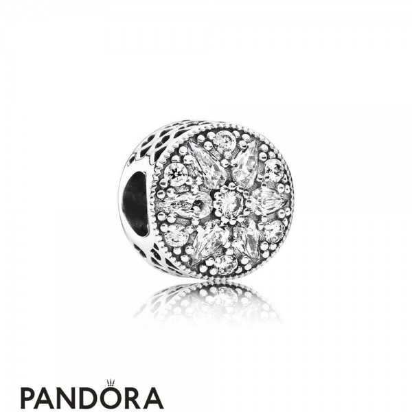 Pandora Sparkling Paves Charms Radiant Bloom Charm Clear Cz Jewelry