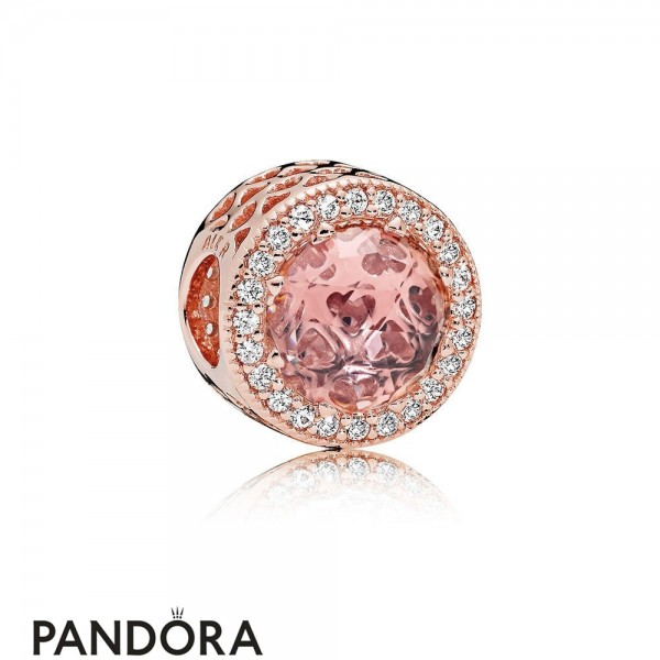 Pandora Sparkling Paves Charms Radiant Hearts Charm Pandora Rose Blush Pink Crystal Jewelry
