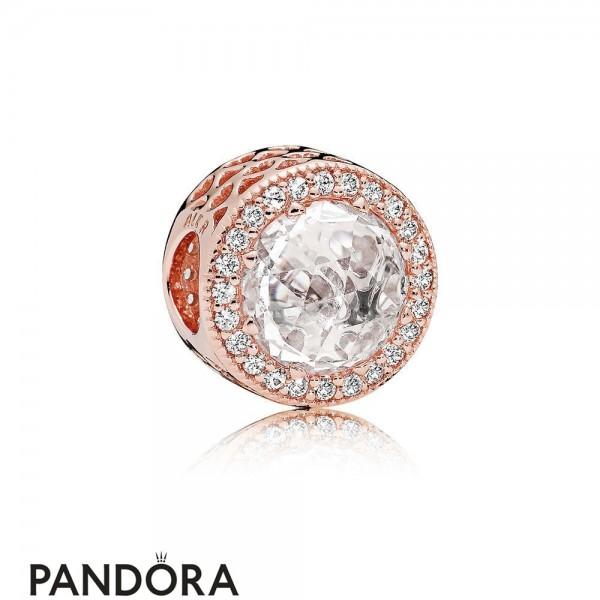 Pandora Sparkling Paves Charms Radiant Hearts Charm Pandora Rose Clear Cz Jewelry