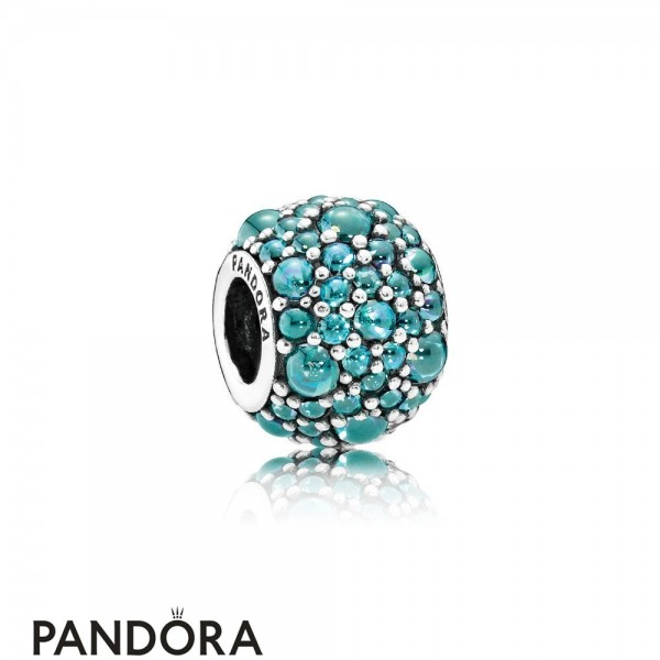 Pandora Sparkling Paves Charms Shimmering Droplet Charm Teal Cz Jewelry