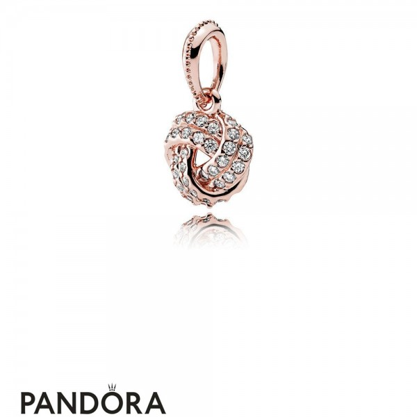 Pandora Sparkling Paves Charms Sparkling Love Knot Pendant Pandora Rose Clear Cz Jewelry