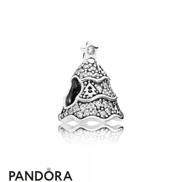 Pandora Sparkling Paves Charms Twinkling Christmas Tree Charm Clear Cz Jewelry
