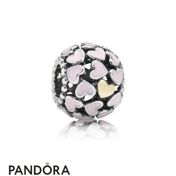 Pandora Symbols Of Love Charms Abundance Of Love Charm Pink Enamel Jewelry