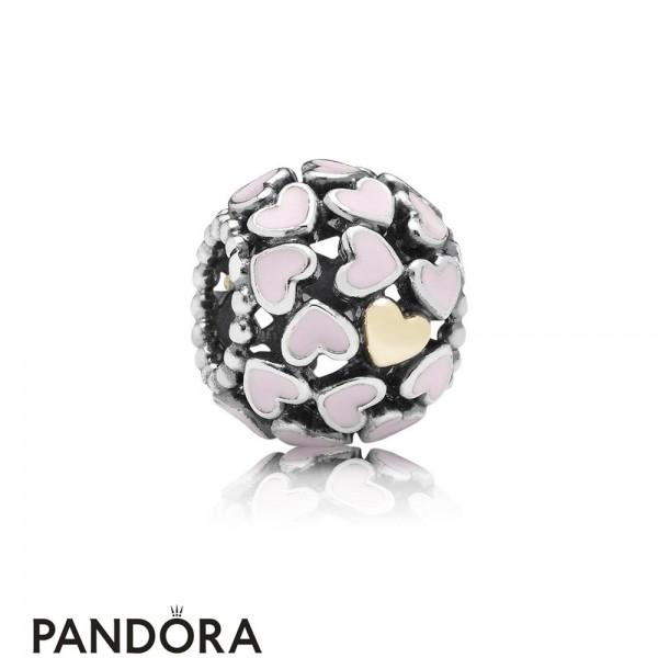 Pandora Symbols Of Love Charms Abundance Of Love Charm Pink Enamel Jewelry