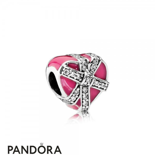 Pandora Symbols Of Love Charms Gifts Of Love Magenta Enamel Clear Cz Jewelry