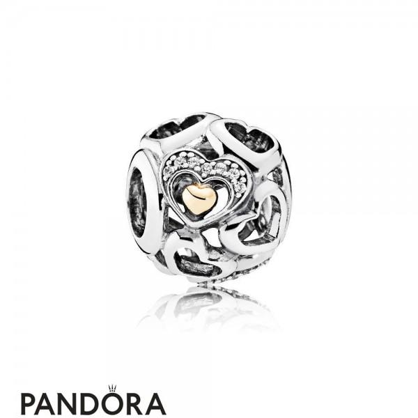 Pandora Symbols Of Love Charms Heart Of Romance Charm Clear Cz Jewelry