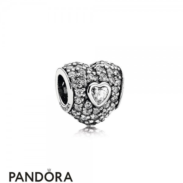 Pandora Symbols Of Love Charms In My Heart Charm Clear Cz Jewelry