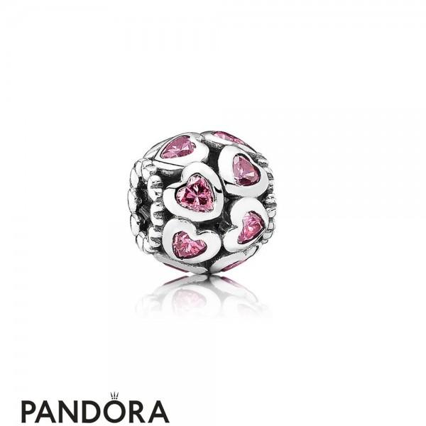 Pandora Symbols Of Love Charms Love All Around Charm Fancy Pink Cz Jewelry