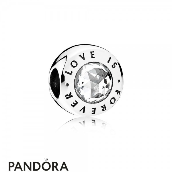 Pandora Symbols Of Love Charms Love Is Forever Clear Cz Jewelry