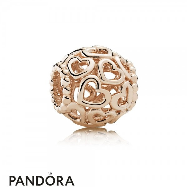 Pandora Symbols Of Love Charms Open Your Heart Filigree Charm Pandora Rose Jewelry