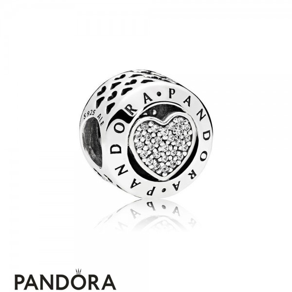 Pandora Symbols Of Love Charms Pandora Signature Heart Charm Clear Cz Jewelry