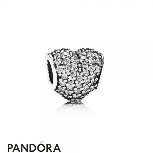 Pandora Symbols Of Love Charms Pave Heart Charm Clear Cz Jewelry