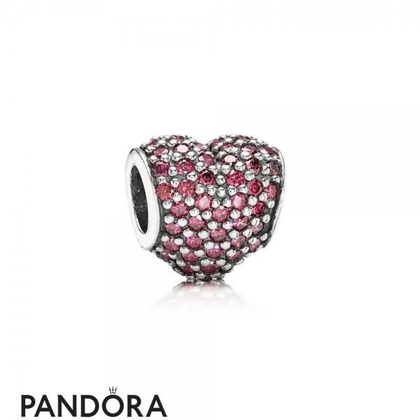 Pandora Symbols Of Love Charms Pave Heart Charm Red Cz Jewelry