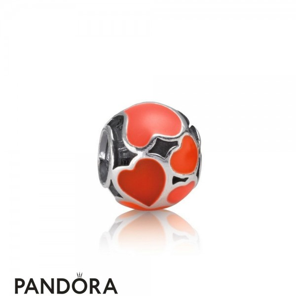 Pandora Symbols Of Love Charms Red Hot Love Charm Red Enamel Jewelry
