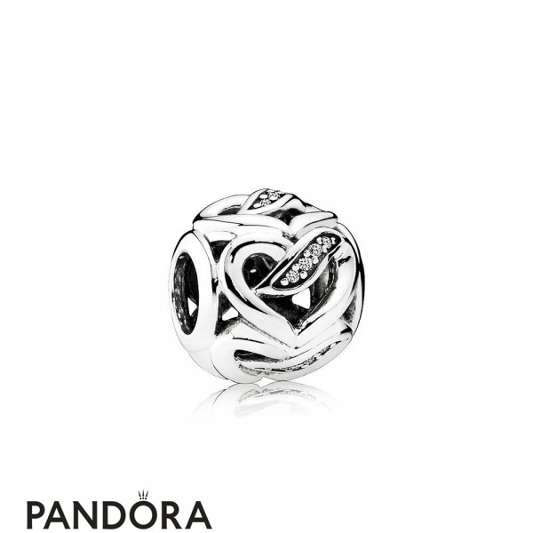 Pandora Symbols Of Love Charms Ribbons Of Love Charm Clear Cz Jewelry