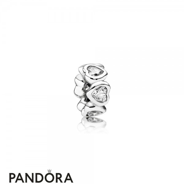 Pandora Symbols Of Love Charms Space In My Heart Spacer Clear Cz Jewelry