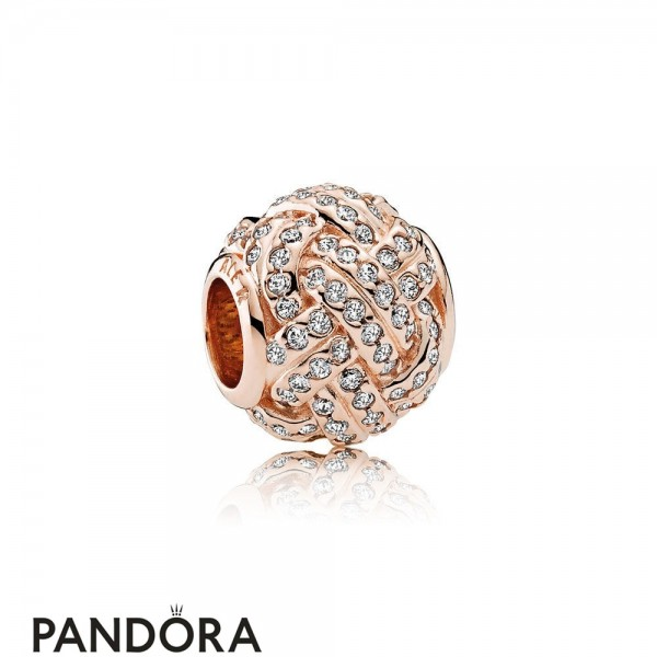 Pandora Symbols Of Love Charms Sparkling Love Knot Charm Pandora Rose Clear Cz Jewelry