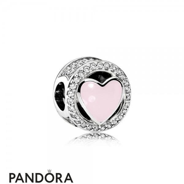 Pandora Symbols Of Love Charms Wonderful Love Soft Pink Enamel Clear Cz Jewelry