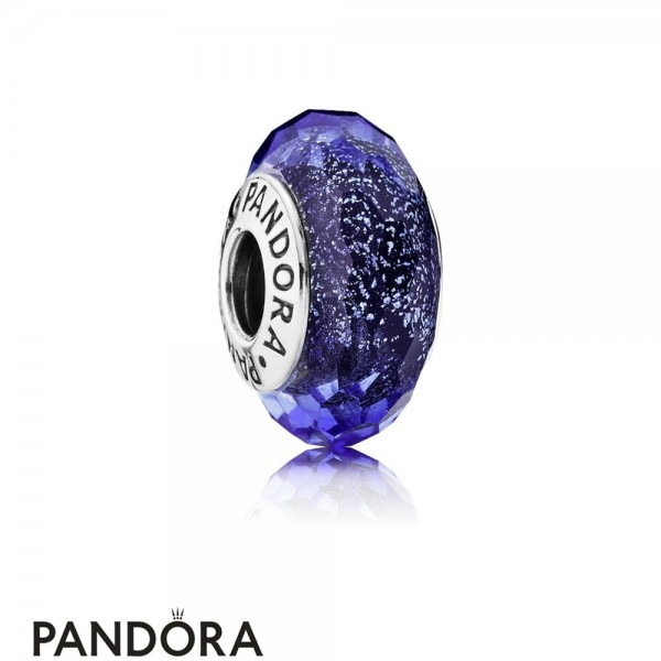 Pandora Touch Of Color Charms Blue Fascinating Iridescence Charm Murano Glass Jewelry