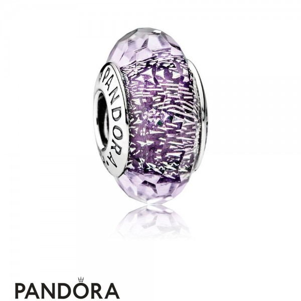 Pandora Touch Of Color Charms Dark Purple Shimmer Charm Murano Glass Jewelry