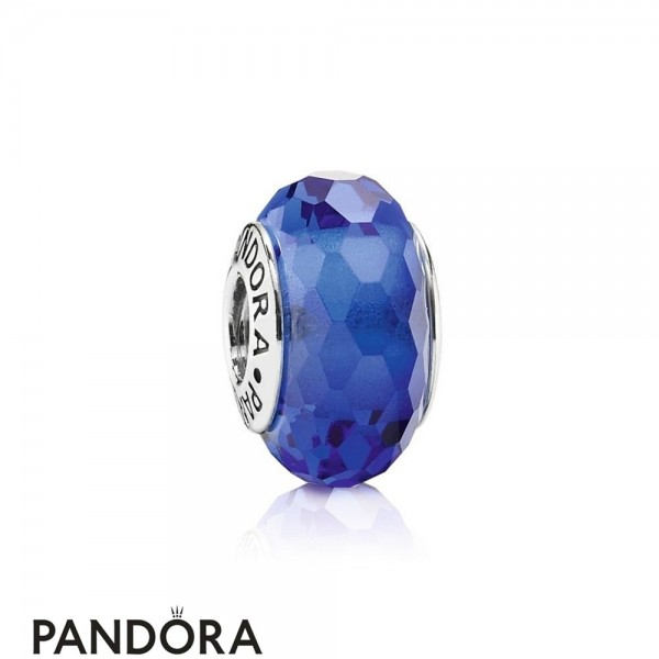 Pandora Touch Of Color Charms Fascinating Blue Charm Murano Glass Jewelry
