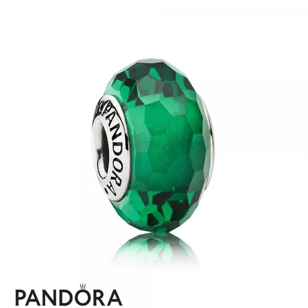 Pandora Touch Of Color Charms Fascinating Green Charm Murano Glass Jewelry