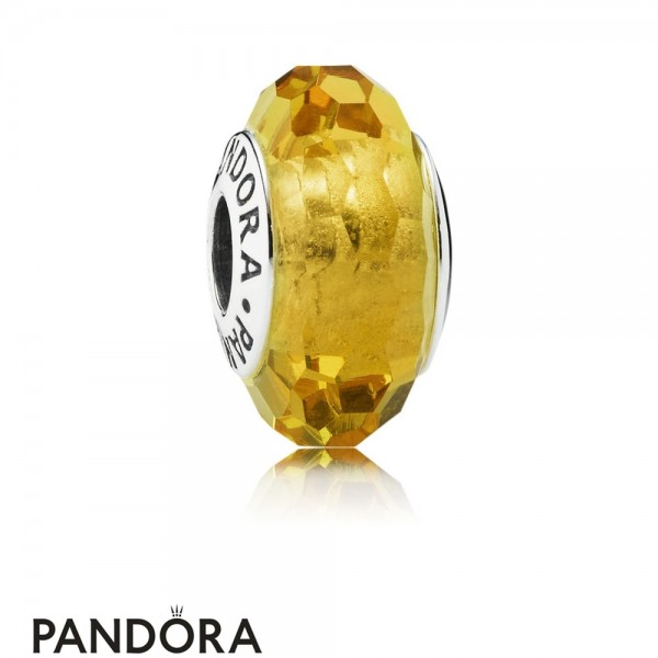 Pandora Touch Of Color Charms Fascinating Ochre Charm Murano Glass Jewelry
