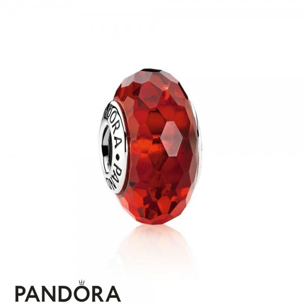 Pandora Touch Of Color Charms Fascinating Red Charm Murano Glass Jewelry