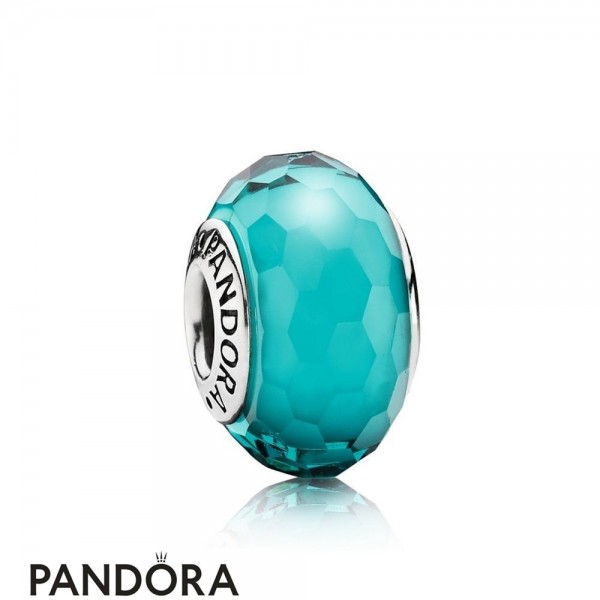 Pandora Touch Of Color Charms Fascinating Teal Charm Murano Glass Jewelry