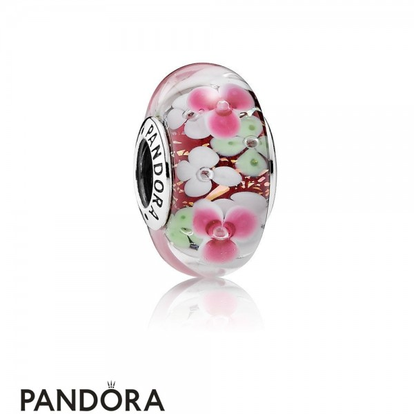 Pandora Touch Of Color Charms Flower Garden Charm Murano Glass Jewelry