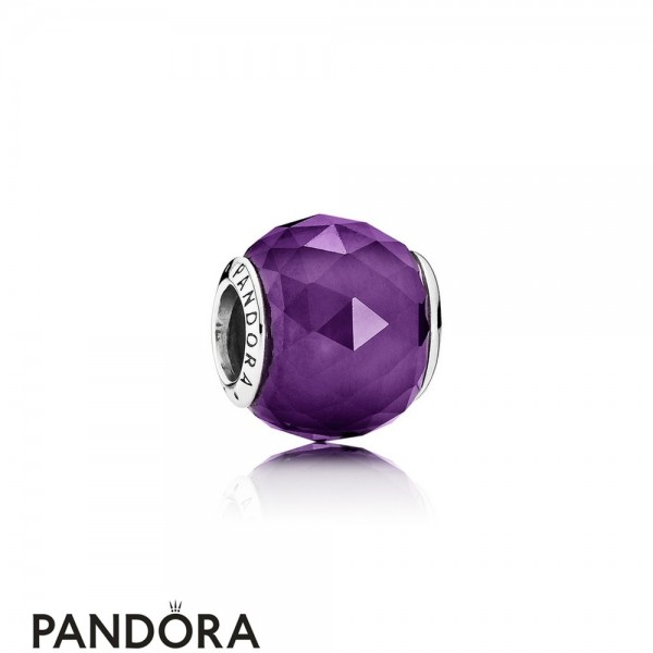 Pandora Touch Of Color Charms Geometric Facets Charm Royal Purple Crystal Jewelry