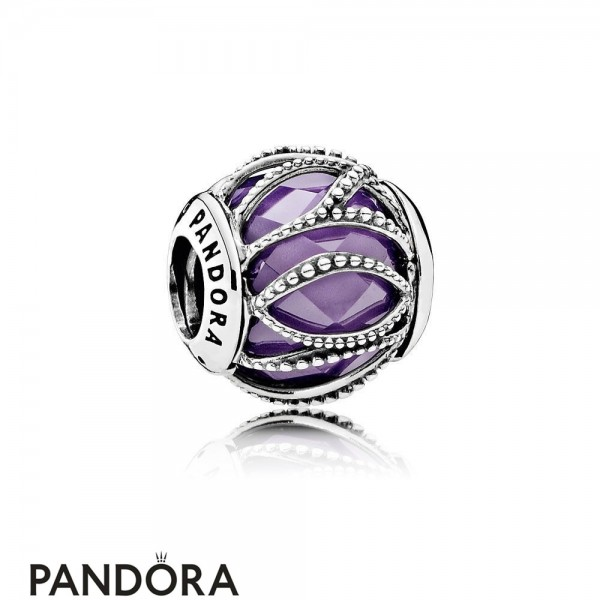 Pandora Touch Of Color Charms Intertwining Radiance Purple Clear Cz Jewelry