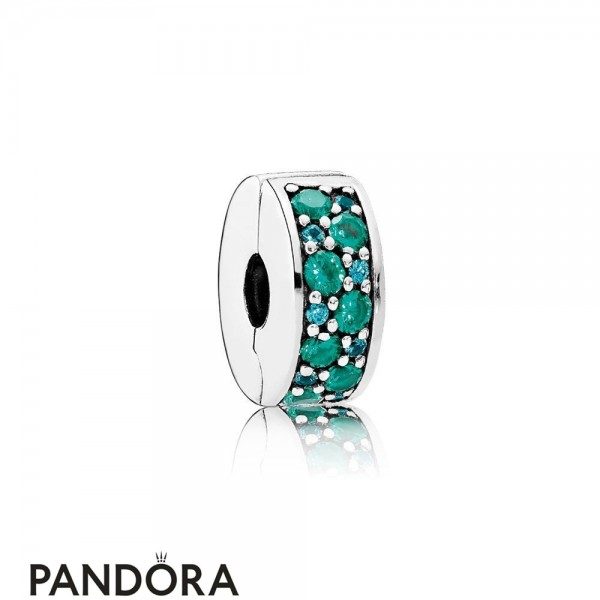 Pandora Touch Of Color Charms Mosaic Shining Elegance Clip Multi Colored Crystals Teal Cz Jewelry