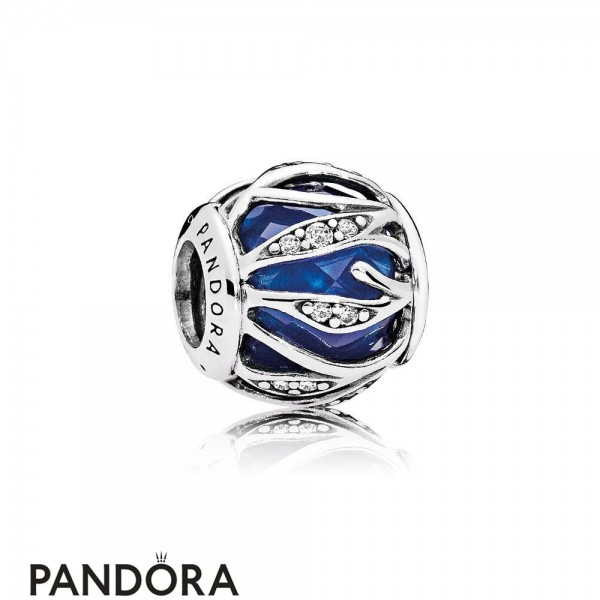 Pandora Touch Of Color Charms Nature's Radiance Charm Royal Blue Crystal Clear Cz Jewelry