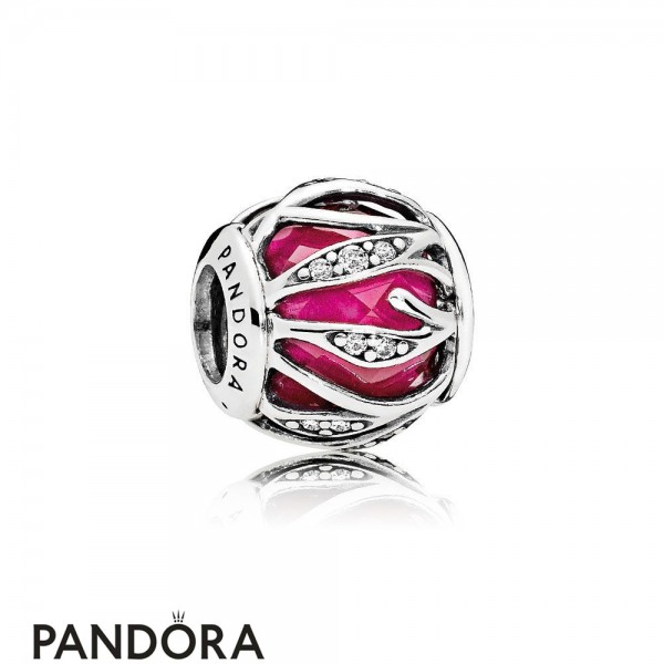 Pandora Touch Of Color Charms Nature's Radiance Charm Synthetic Ruby Clear Cz Jewelry