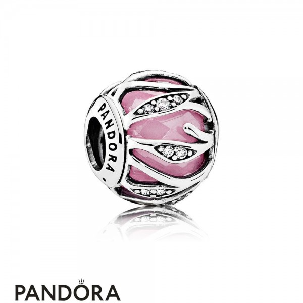 Pandora Touch Of Color Charms Nature's Radiance Pink Clear Cz Jewelry