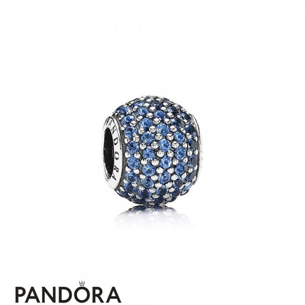 Pandora Touch Of Color Charms Pave Lights Charm Blue Crystal Jewelry