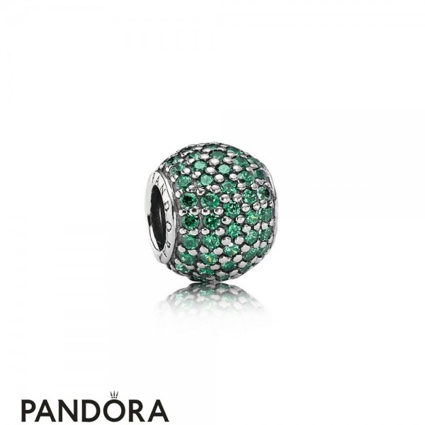 Pandora Touch Of Color Charms Pave Lights Charm Dark Green Cz Jewelry
