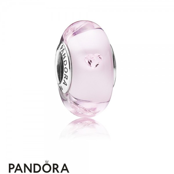 Pandora Touch Of Color Charms Pink Hearts Charm Murano Glass Pink Cz Jewelry