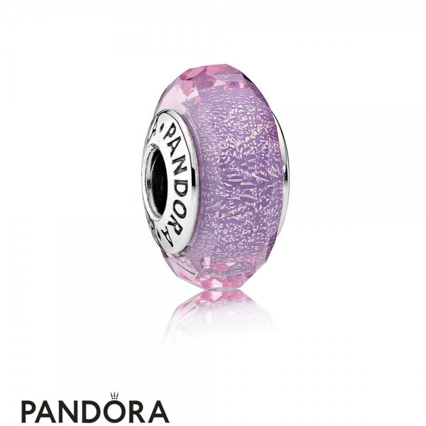 Pandora Touch Of Color Charms Purple Shimmer Charm Murano Glass Jewelry