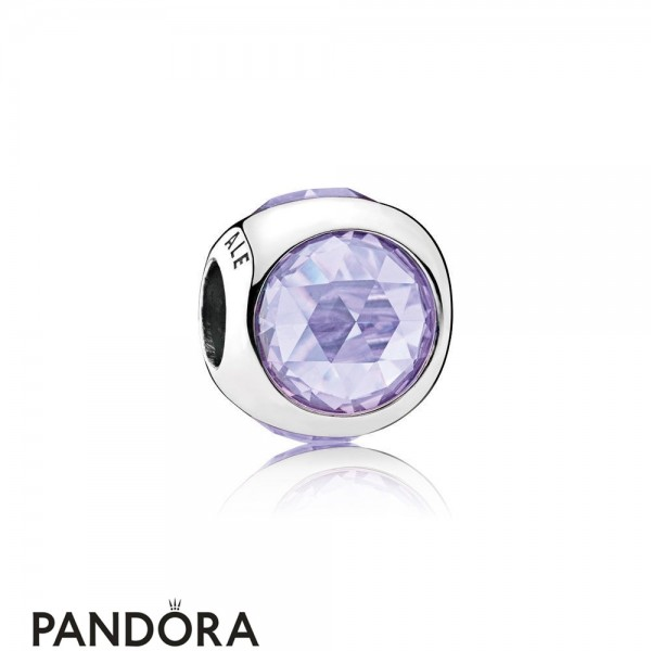 Pandora Touch Of Color Charms Radiant Droplet Charm Lavender Cz Jewelry