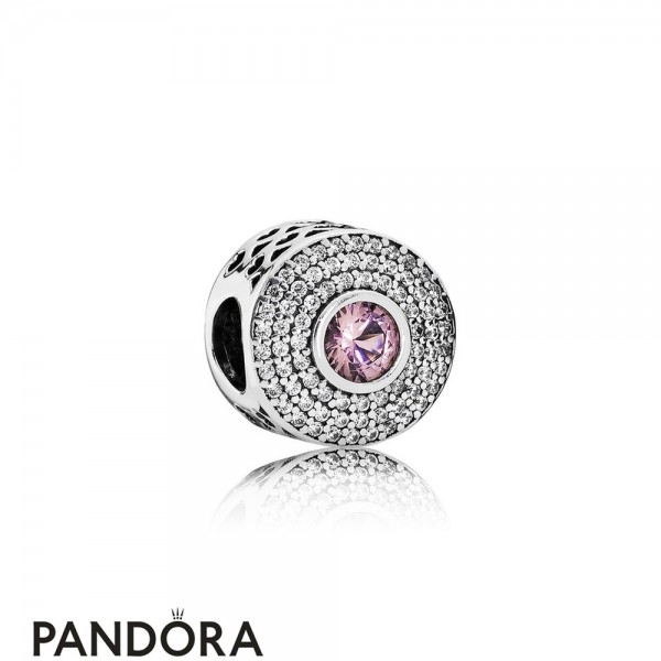 Pandora Touch Of Color Charms Radiant Splendor Charm Blush Pink Crystal Clear Cz Jewelry
