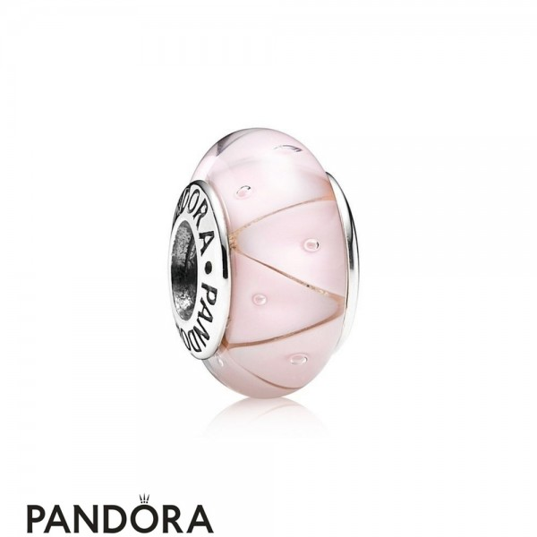 Pandora Touch Of Color Charms Rose Looking Glass Charm Murano Glass Jewelry