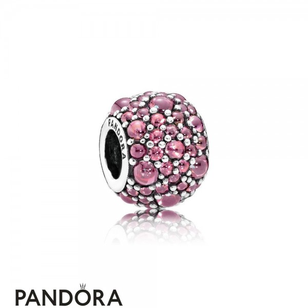 Pandora Touch Of Color Charms Shimmering Droplet Charm Honeysuckle Pink Cz Jewelry