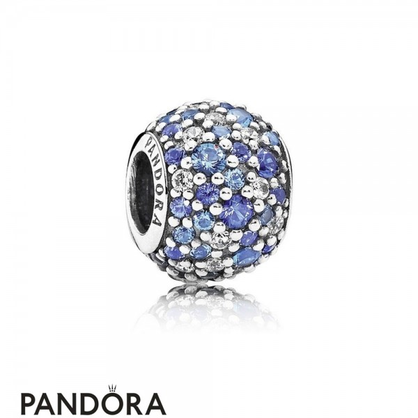 Pandora Touch Of Color Charms Sky Mosaic Pave Charm Mixed Blue Crystals Clear Cz Jewelry