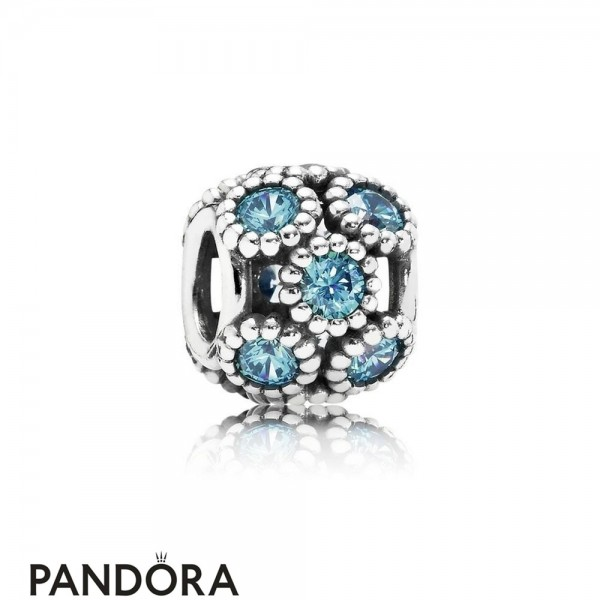 Pandora Touch Of Color Charms Studded Lights Charm Teal Cz Jewelry