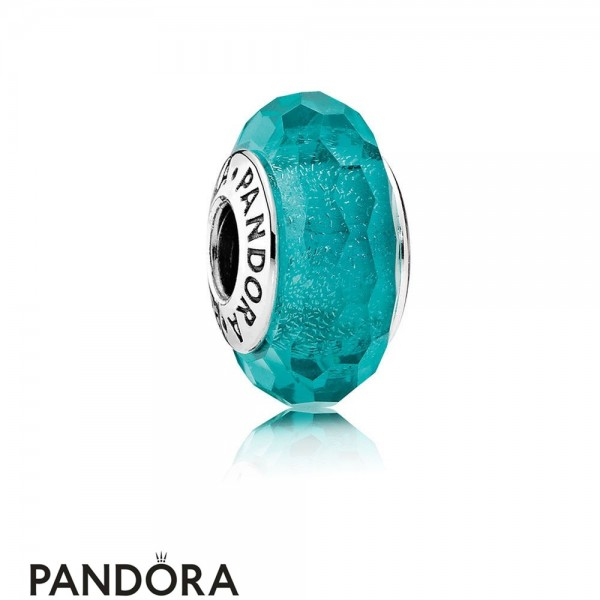 Pandora Touch Of Color Charms Teal Shimmer Charm Murano Glass Jewelry