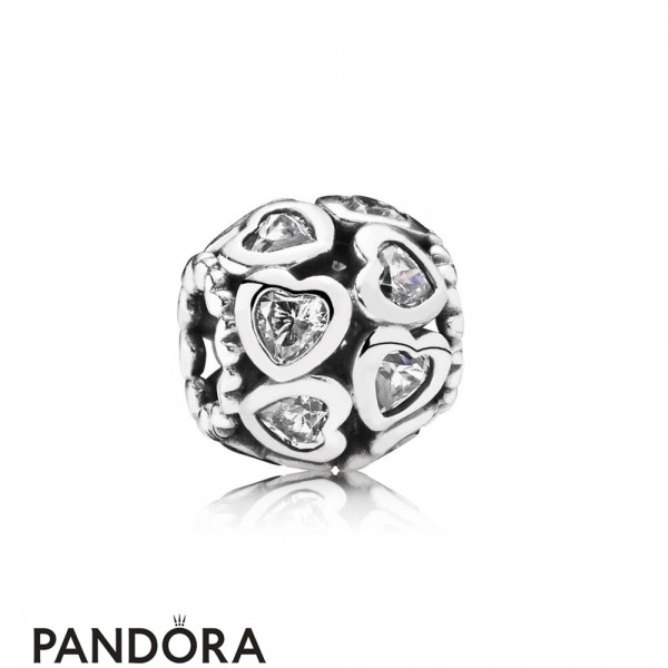 Pandora Valentine's Day Charms Love All Around Charm Clear Cz Jewelry