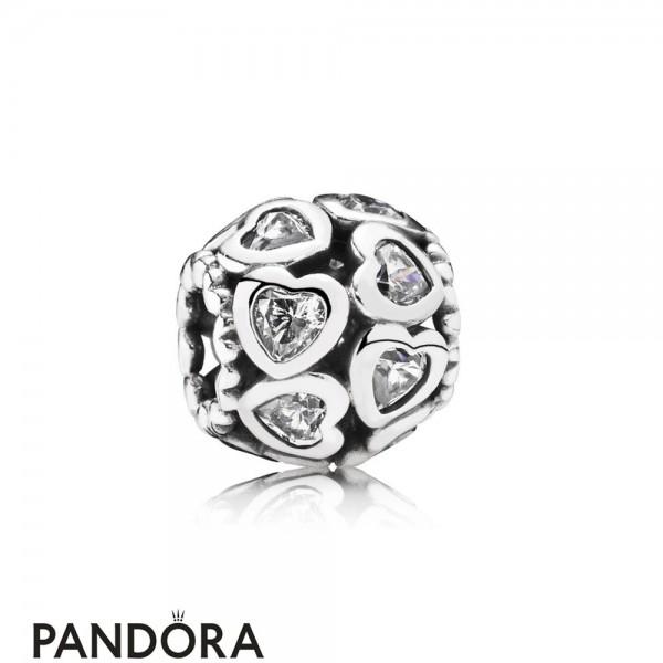 Pandora Valentine's Day Charms Love All Around Charm Clear Cz Jewelry