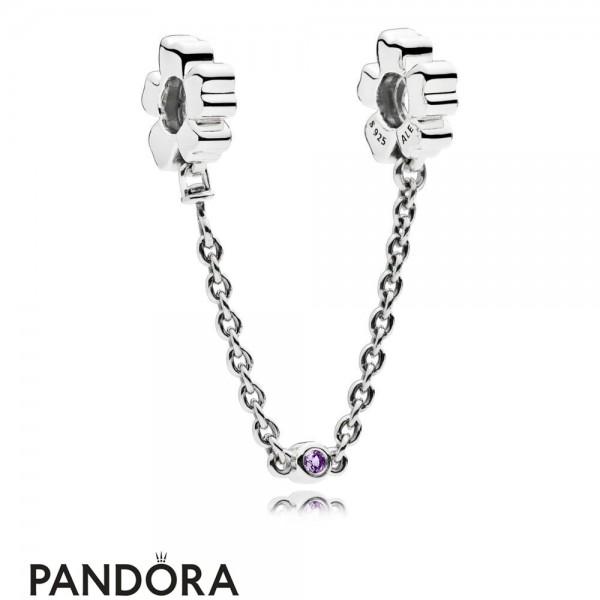 Women's Pandora Jewelry Wildflower Meadow Safety Chain Jewelry
